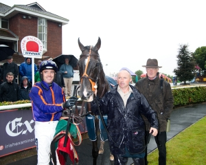 Trainer Willie Mullins & Jockey Ruby Walsh  with Simenon in the Parade